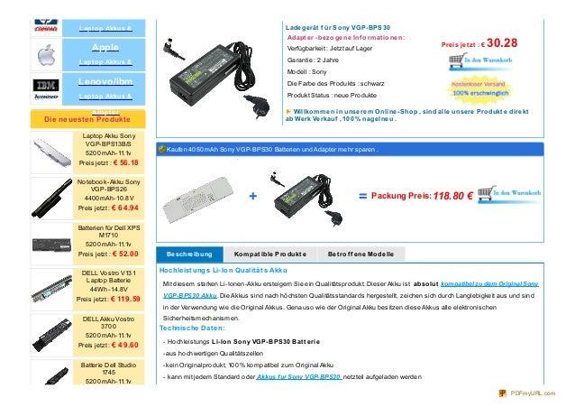 Akkus fur Sony VGP-BPS30 Slide 2