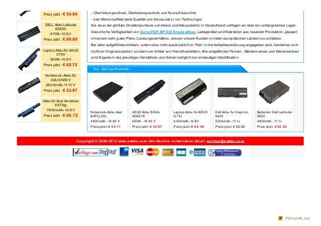Akkus fur Sony VGP-BPS30 Slide 3