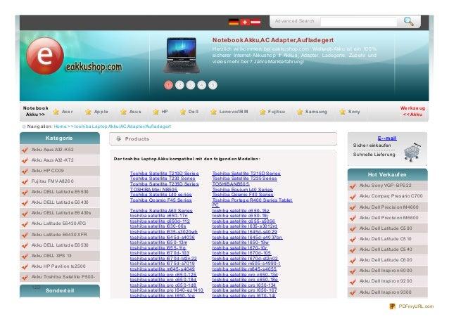 Advanced SearchNotebook Akku,AC Adapter,AufladegertHerzlich willkommen bei eakkushop.com. Weltweit-Akku ist ein 100%sicher...