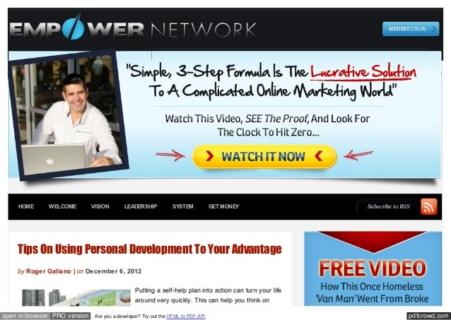 HOME      WELCOME         VISION       LEADERSHIP           SYSTEM            GET MONEY               Subscribe to RSS    ...
