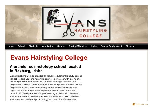 Evans Hairstyling College 14 hour byu idaho grad for english writing and history Home School Students Admission Service Contactabout Us Links Gainf Ul Employment Sitemap Evans Hairstyling