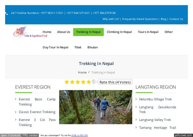pdfcrowd.comopen in browser PRO version Are you a developer? Try out the HTML to PDF API Trekking In Nepal Home Trekking i...