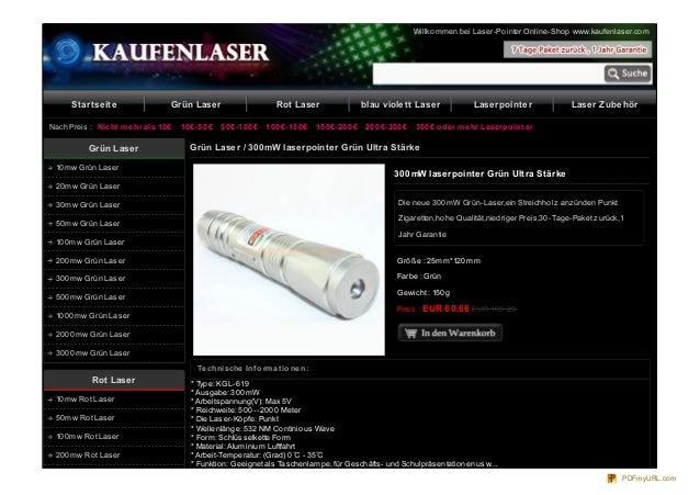 Willko mmen bei Laser-Po inter Online-Sho p www.kaufenlaser.co m  Startseite  Grün Laser  Nach Preis : Nicht m e hr als 10...
