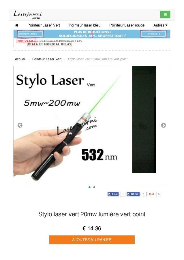   Pointeur Laser Vert Pointeur laser bleu Pointeur Laser rouge Autres  Accueil / Pointeur Laser Vert / Stylo laser vert...