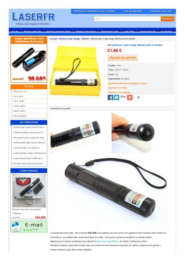 Laserfr Accueil > Pointeur Laser Rouge > 200mw > 850 pointeur Laser rouge 200mw point et étoiles Description du produit Ce...