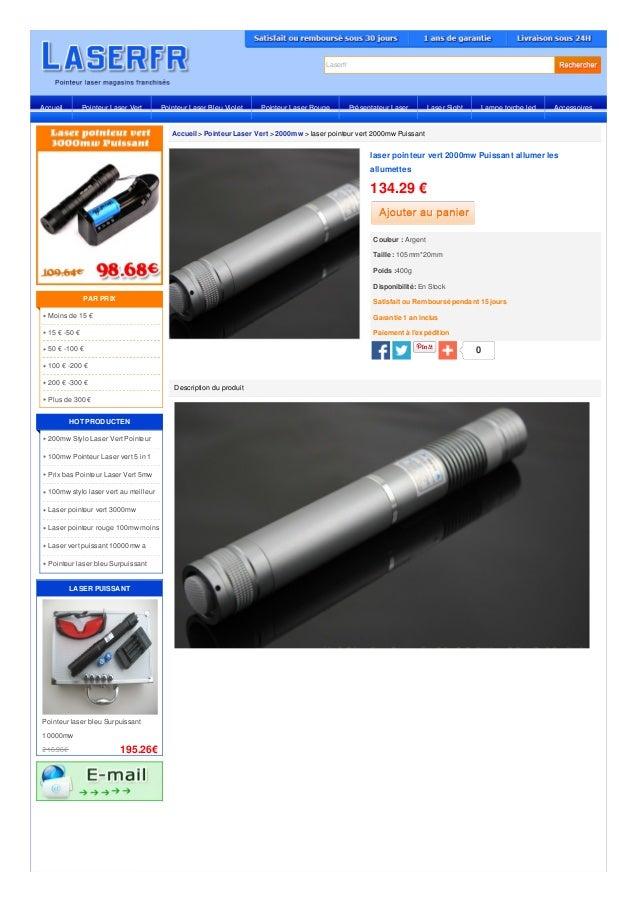 Laserfr  Accueil Pointeur Laser Vert Pointeur Laser Bleu Violet Pointeur Laser Rouge Présentateur Laser Laser Sight Lampe ...