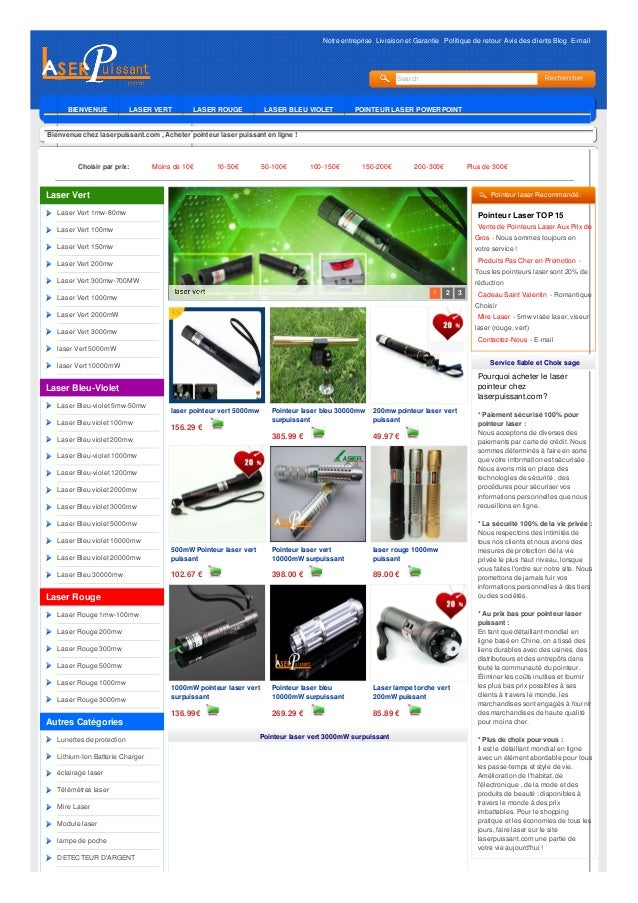 Notre entreprise Livraison et Garantie Politique de retour Avis des clients Blog E-mail Search BIENVENUE LASER VERT LASER ...