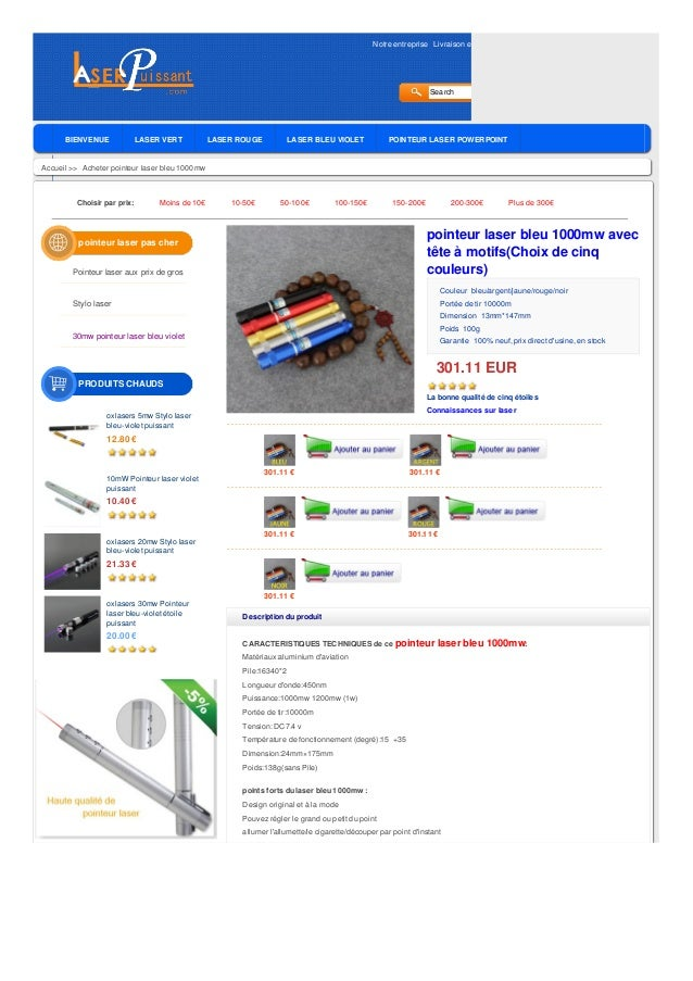 Notre entreprise Livraison et Garantie Politique de retour Avis des clients Blog Search BIENVENUE LASER VERT LASER ROUGE L...