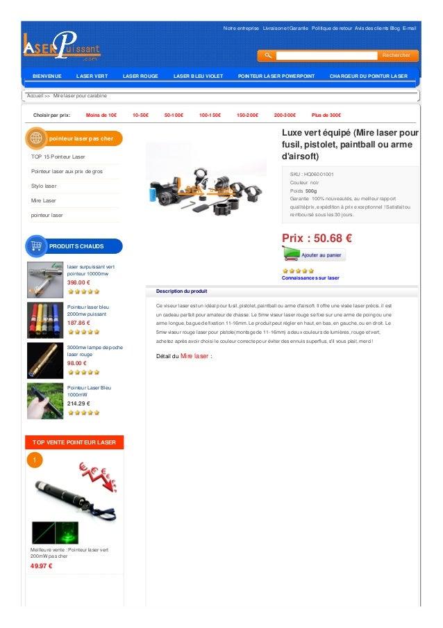 Notre entreprise Livraison et Garantie Politique de retour Avis des clients Blog E-mail Accueil >> Mire laser pour carabin...