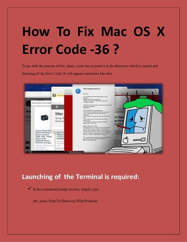 How to fix Mac OS X Error Code -36 ?