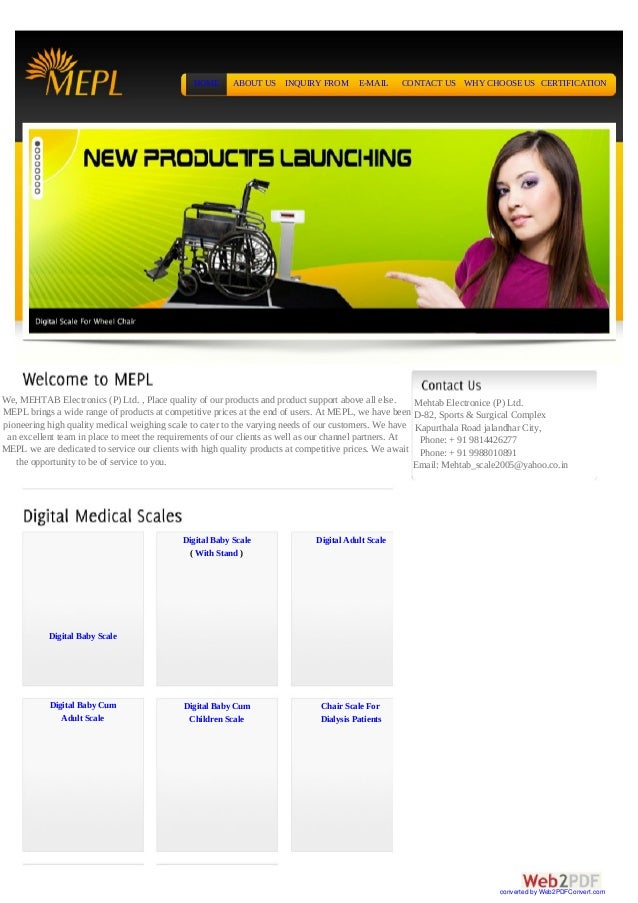 HOME      ABOUT US    INQUIRY FROM       E-MAIL     CONTACT US WHY CHOOSE US CERTIFICATIONWe, MEHTAB Electronics (P) Ltd. ...