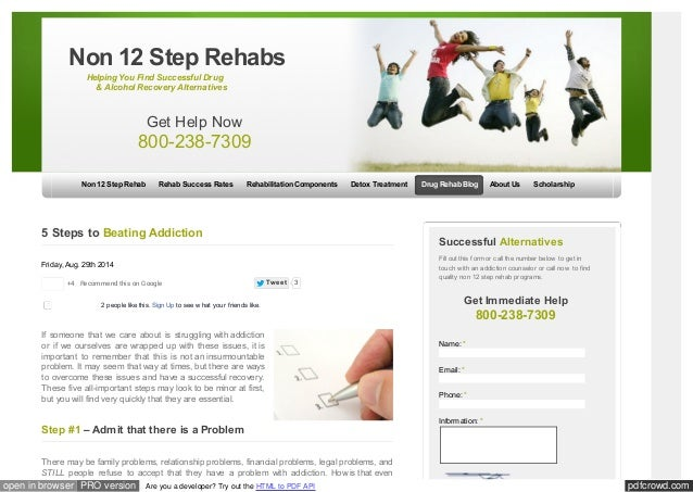 Non 12 Step Rehabs  Helping You Find Successful Drug  & Alcohol Recovery Alternatives  Get Help Now  800-238-7309  Non 12 ...