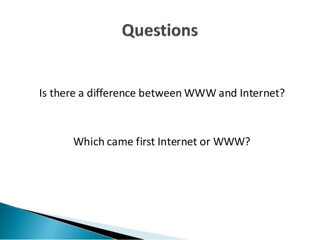  Tim Berners  Yes, the two terms are not synonymous . The Internet and the Web are two separate but related things. WWW ...