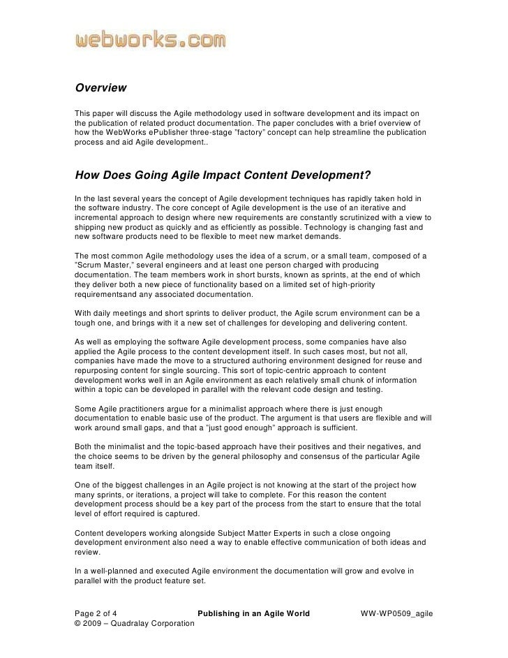 agile electronics essay Agile proect management: best practices and methodologies 1 the art of project management 2 traditional project management methodologies 3 agile project management.