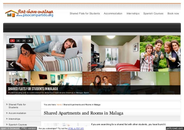 Shared Flats for Students            Accommodation          Internships       Spanish Courses            Book now        1...