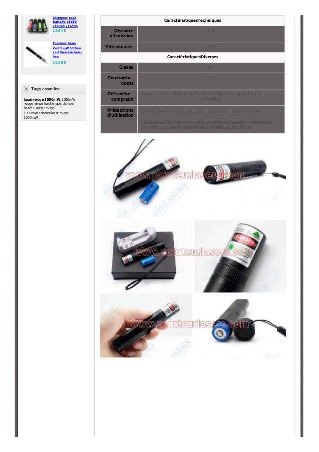 1000mW Pointeur laser rouge puissant visible Slide 2