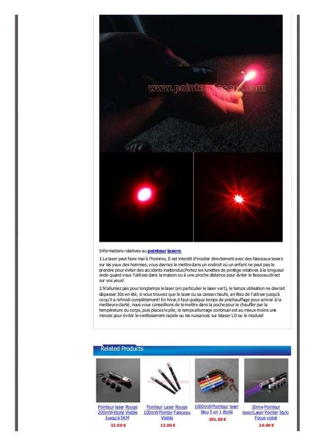 1000mW Pointeur laser rouge puissant visible Slide 3