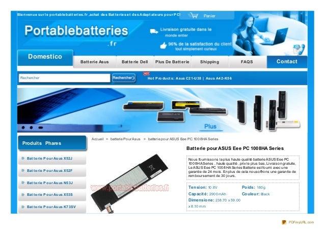 Bienvenue sur le port ablebat t eries.f r ,achat des Bat t eries et des Adapt at eurs pour PC! PanierDomesticoBatterie Asu...