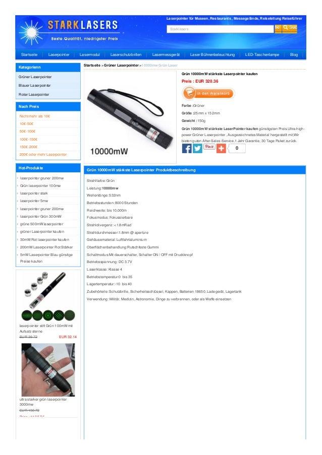 Laserpointer für Museen, Restaurants , Messegelände, Reiseleitung Reiseführer Starklasers 0 Grün 10000mW stärkste Laserpoi...