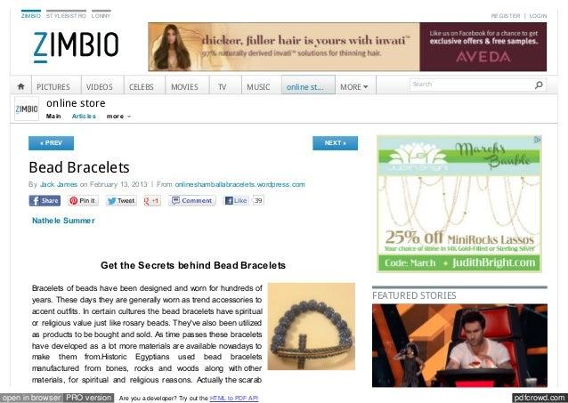 Www Zimbio Com Online Store Articles T7s T Fdncmt9 Bead Bracel
