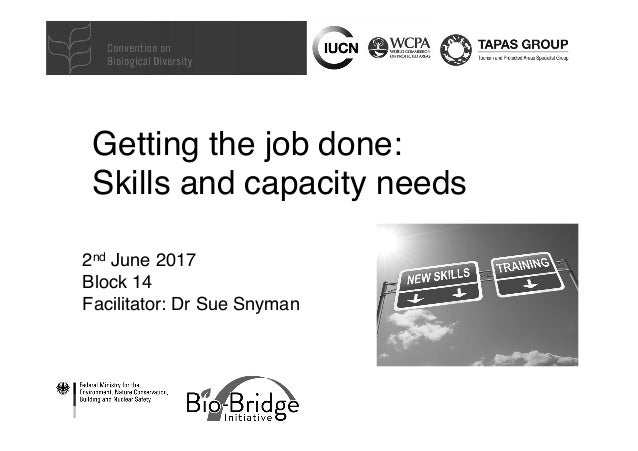 Getting the job done: 