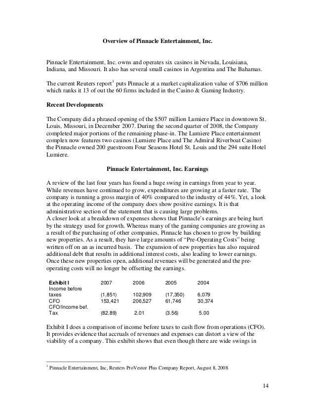 Wyandotte financial evaluation report
