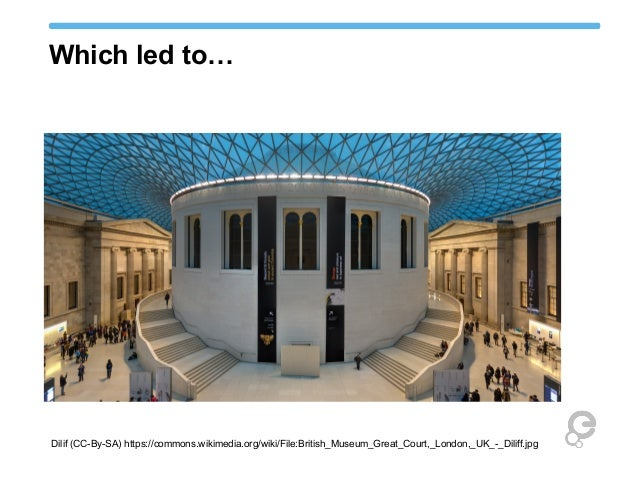 Which led to…  Dilif (CC-By-SA) https://commons.wikimedia.org/wiki/File:British_Museum_Great_Court,_London,_UK_-_Diliff.jp...