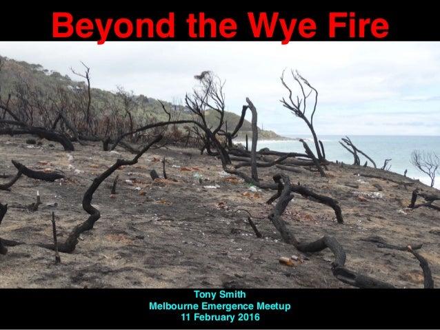 Beyond the Wye Fire Tony Smith Melbourne Emergence Meetup 11 February 2016