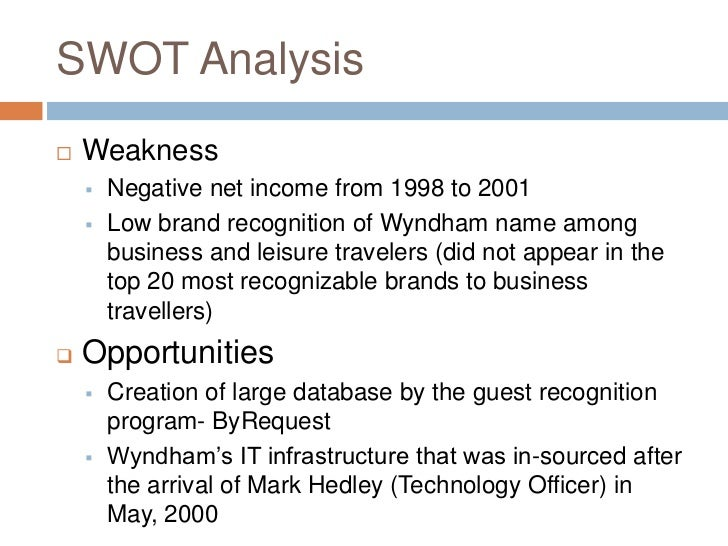 wyndham swot analysis