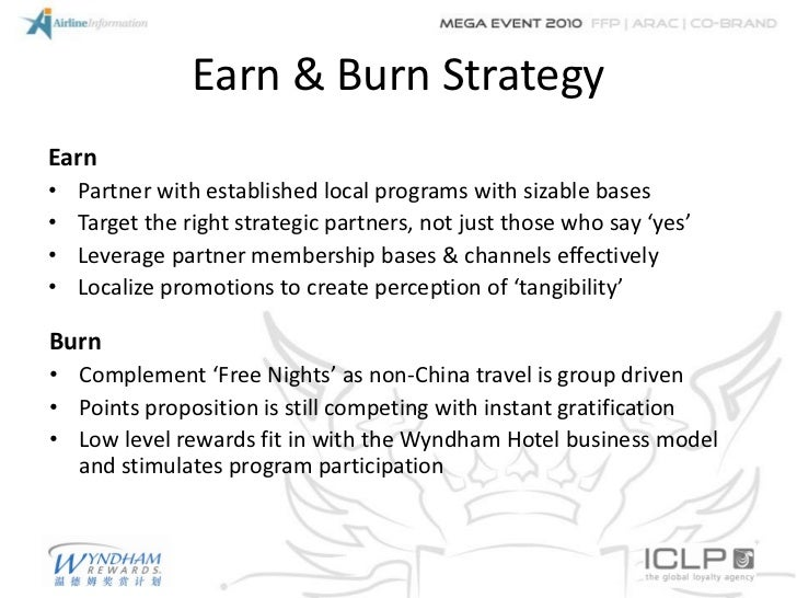 Earn & Burn StrategyEarn•   Partner with established local programs with sizable bases•   Target the right strategic partn...