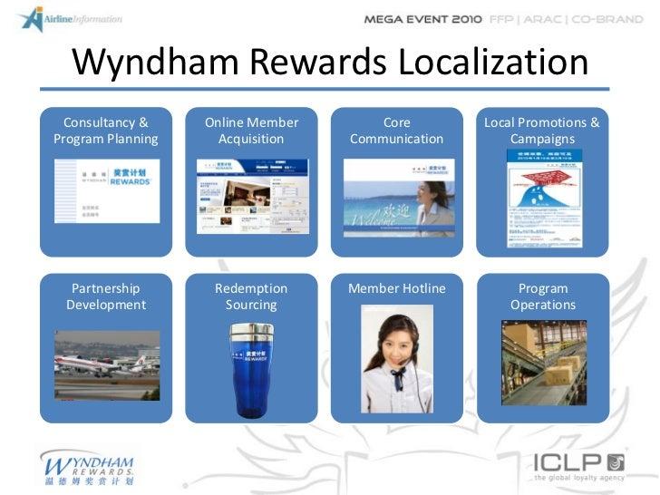 Wyndham Rewards Localization Consultancy &     Online Member       Core         Local Promotions &Program Planning     Acq...