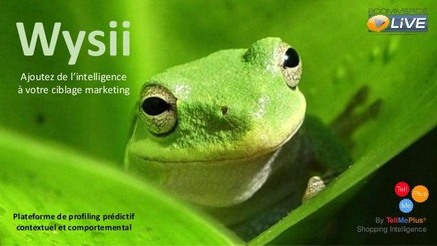Wysii Ajoutez de l'intelligence à votre ciblage marketing  Plateforme de profiling prédictif contextuel et comportemental ...