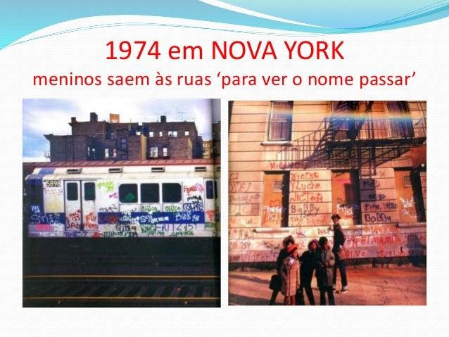 1974 em NOVA YORK meninos saem às ruas 'para ver o nome passar'