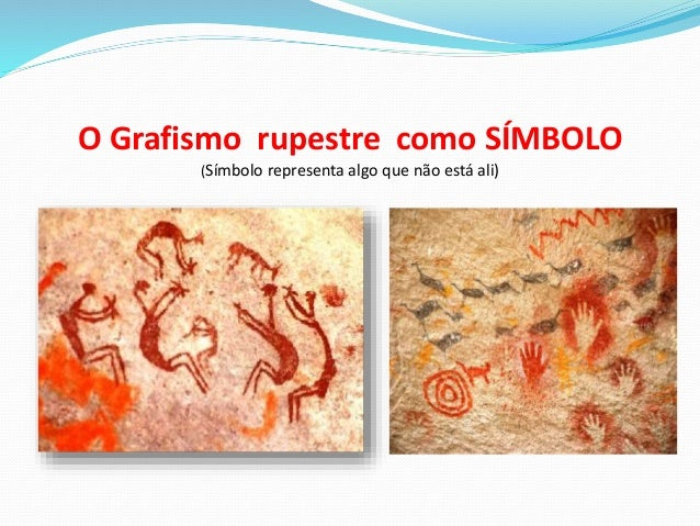 O Grafismo rupestre como SÍMBOLO (Símbolo representa algo que não está ali)