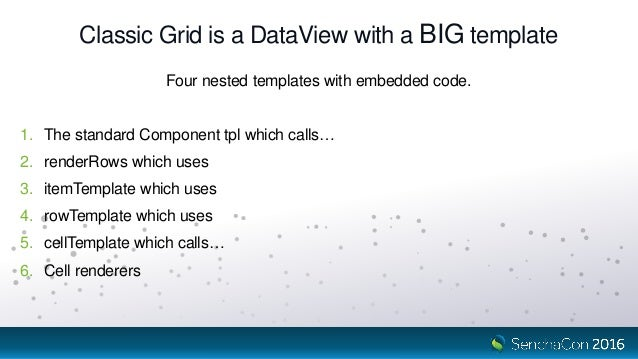 SenchaCon 2016: The Once and Future Grid - Nige White