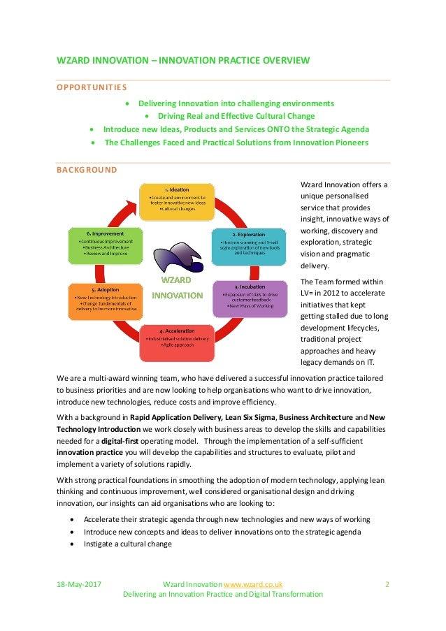 Wzard - Innovation Practice Overview Slide 2