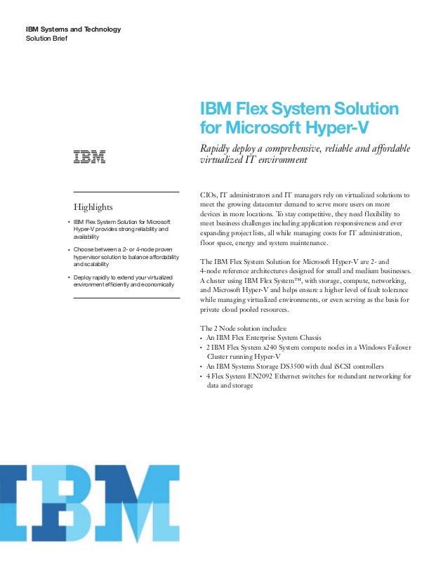 IBM Flex System Solution for Microsoft Hyper-V