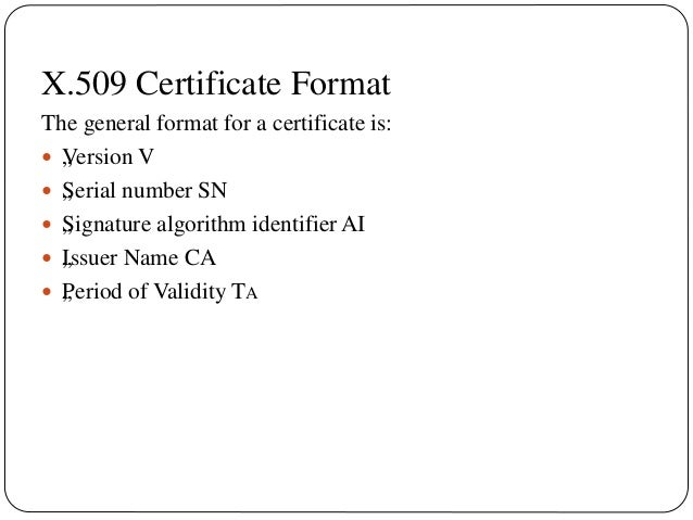 x.509-Directory Authentication Service