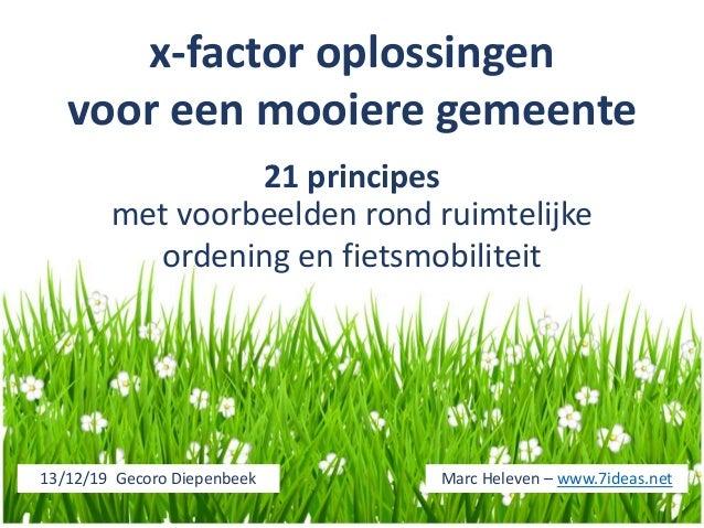x-factor oplossingen voor een mooiere gemeente 21 principes met voorbeelden rond ruimtelijke ordening en fietsmobiliteit M...