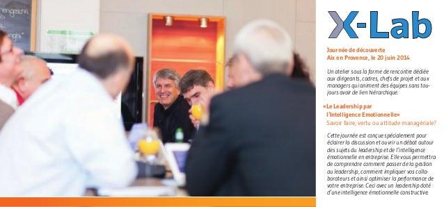 «Le Leadership par  l'Intelligence Emotionnelle»  Savoir faire, vertu ou attitude managériale? Un atelier sous la forme ...