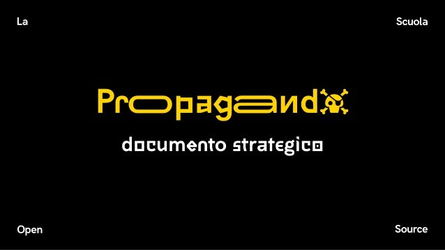 Propaganda documento strategico