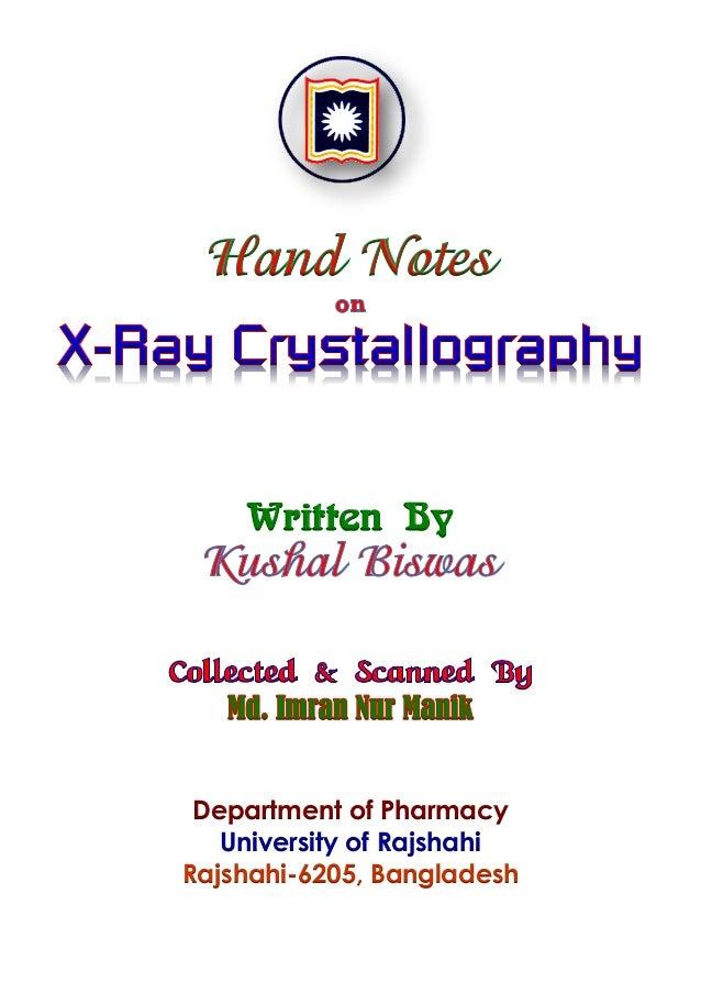 X Ray Crystallography Manik