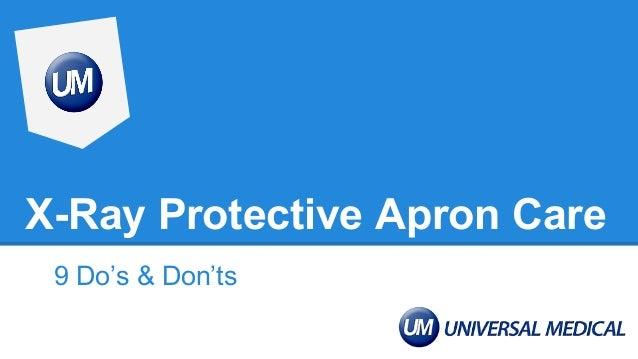 X-Ray Protective Apron Care 9 Do's & Don'ts