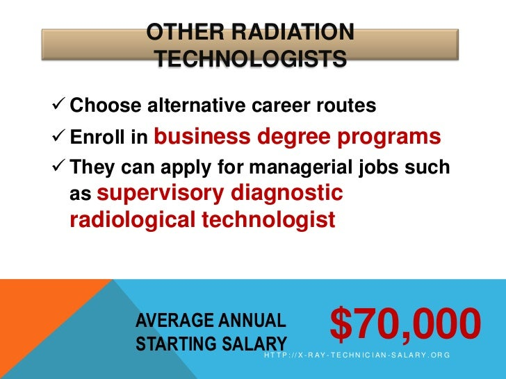 X-Ray Technician Salary