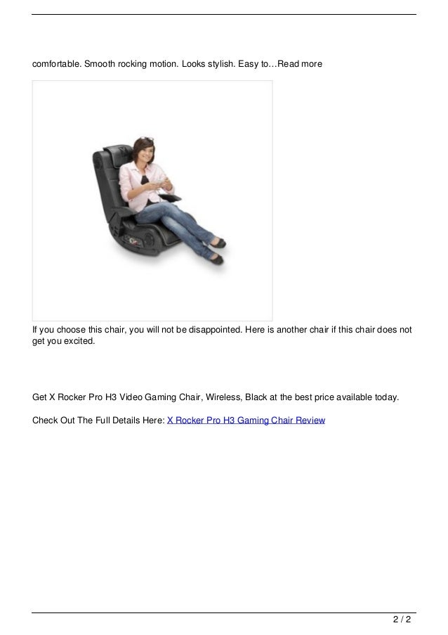 X Rocker Pro H3 Gaming Chair Review