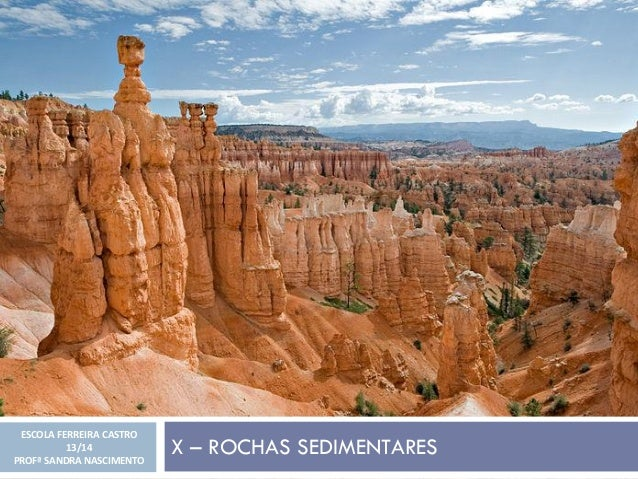 X – ROCHAS SEDIMENTARES ESCOLA FERREIRA CASTRO 13/14 PROFª SANDRA NASCIMENTO