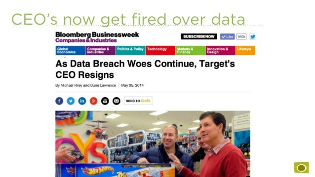 CEO's now get fired over data