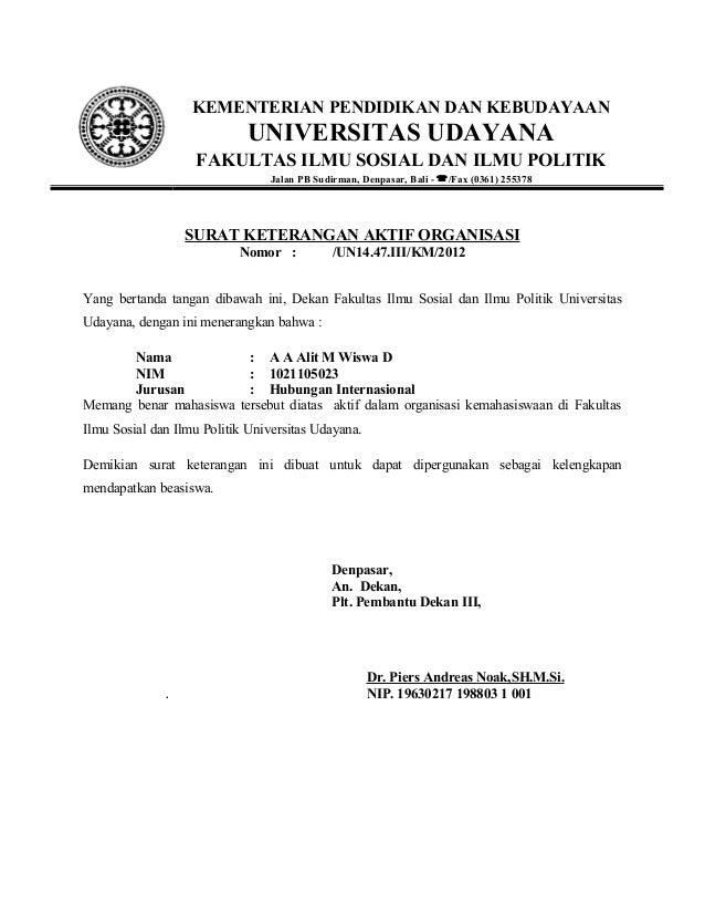 Contoh Surat Resmi Organisasi Vrasmi