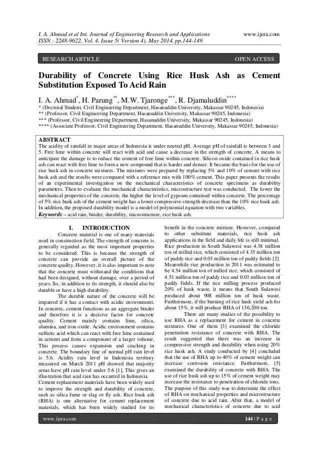 I. A. Ahmad et al Int. Journal of Engineering Research and Applications www.ijera.com ISSN : 2248-9622, Vol. 4, Issue 5( V...