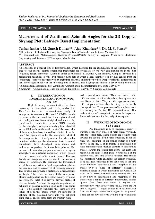 Tushar Jankar et al Int. Journal of Engineering Research and Applications www.ijera.com ISSN : 2248-9622, Vol. 4, Issue 5(...